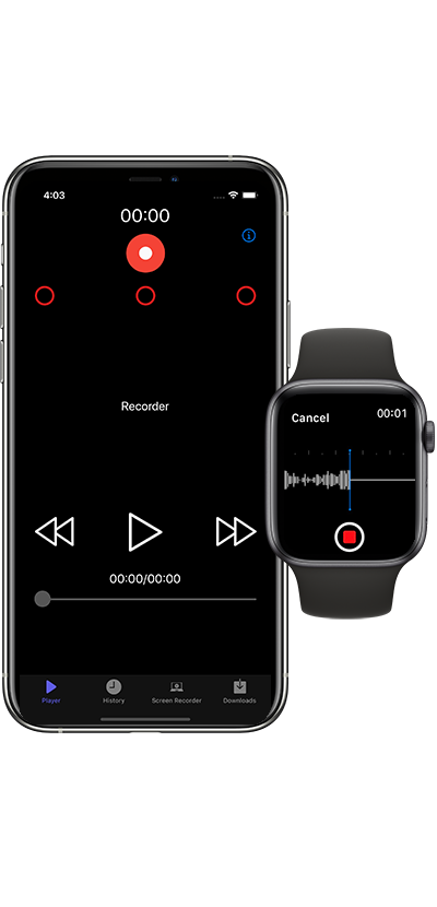 Voice Recorder Free  available for apple watch